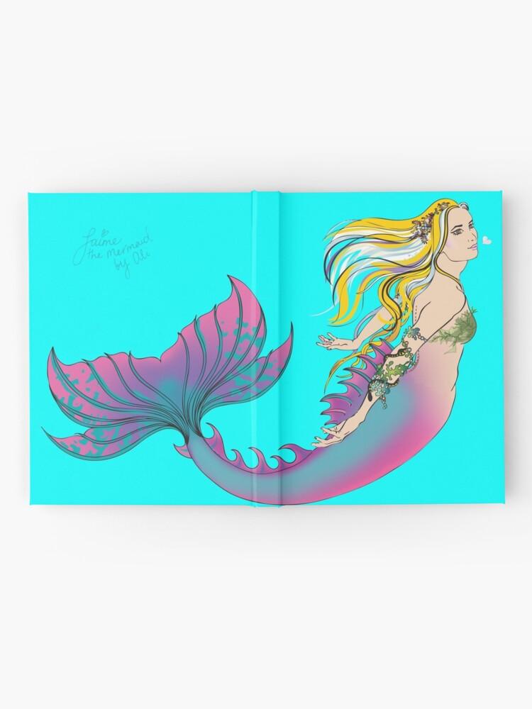 Alternate view of Aqua Hardcover Journal: Jaime the Mermaid by Ali Hardcover Journal