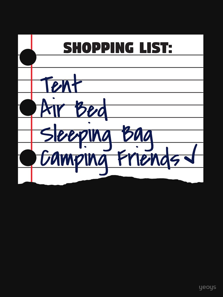 Shopping List Tent Camping Friends - Funny Camping von yeoys