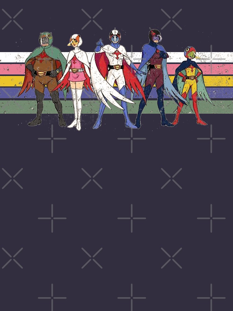 G Force Battle of the Planets Retro Stripe by Surfdavedesigns