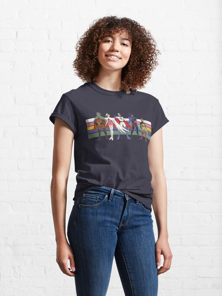 Alternate view of G Force Battle of the Planets Retro Stripe Classic T-Shirt
