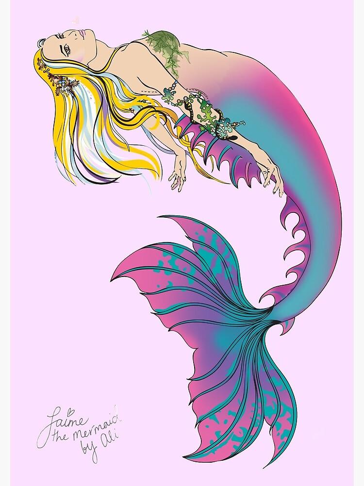Pink Spiral Notebook: Jaime the Mermaid by Ali by jaimethemermaid