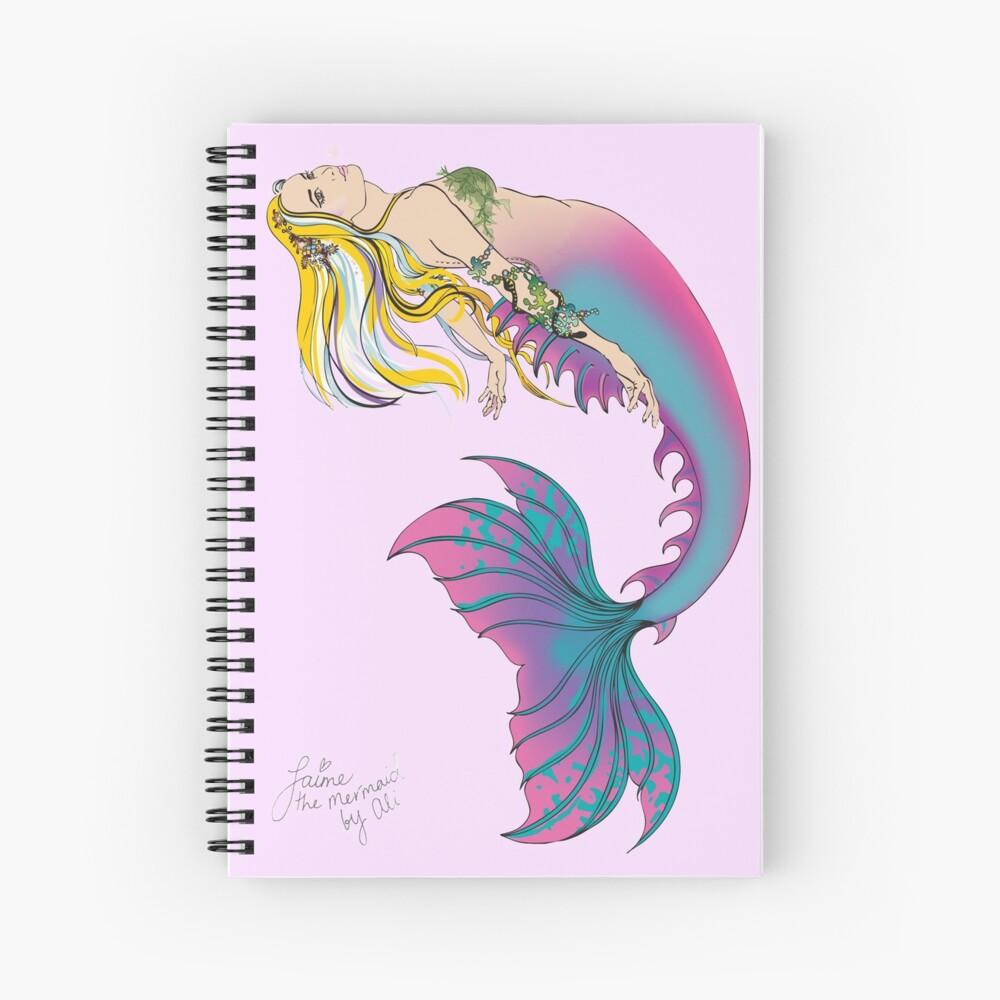 Pink Spiral Notebook: Jaime the Mermaid by Ali Spiral Notebook