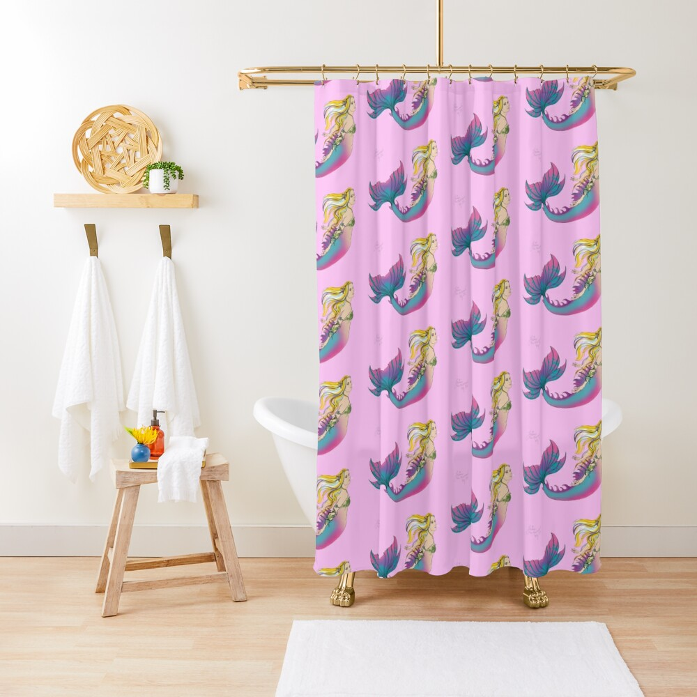 Bathroom Accessories: Jaime the Mermaid by Ali Shower Curtain