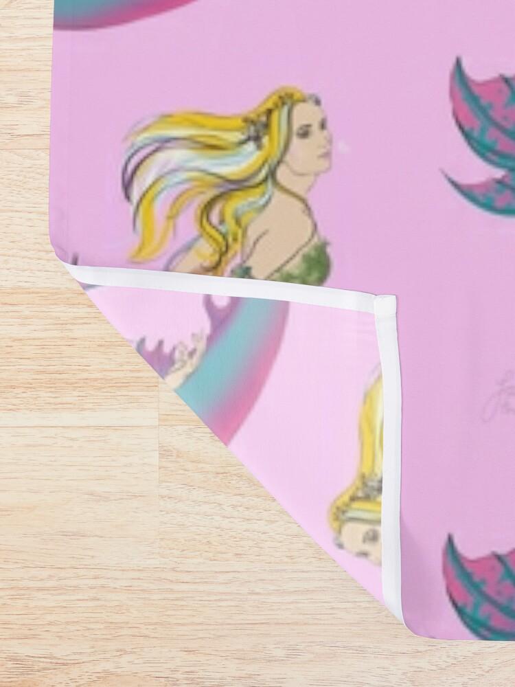 Alternate view of Bathroom Accessories: Jaime the Mermaid by Ali Shower Curtain