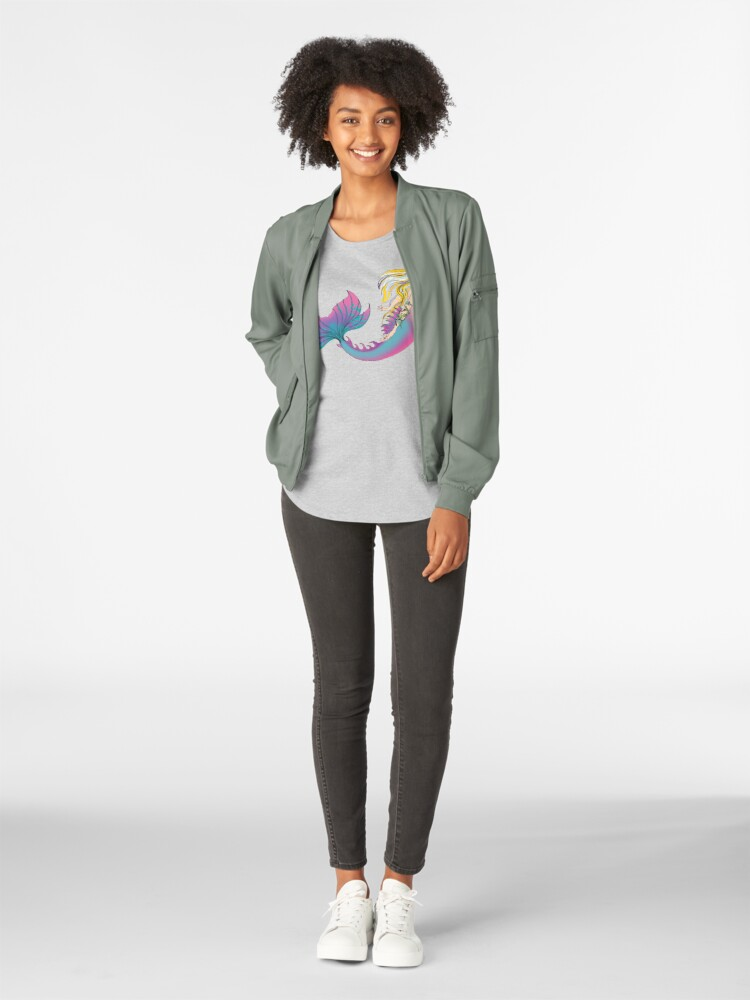 Alternate view of Clothes for Kids and Adults: Jaime the Mermaid by Ali Premium Scoop T-Shirt