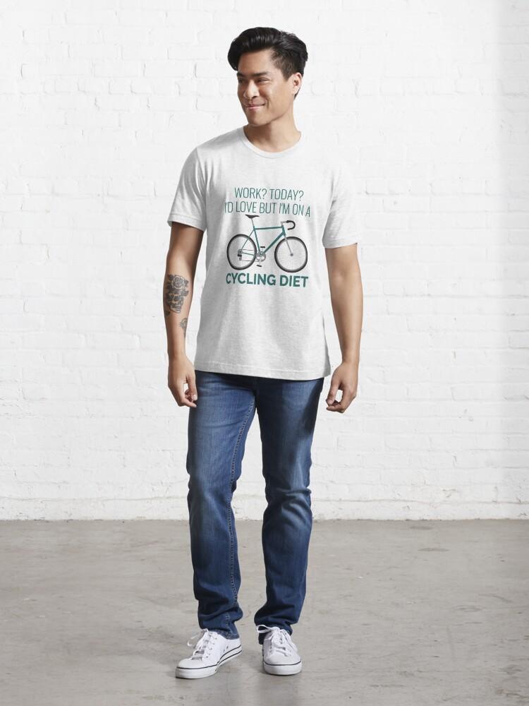 Alternative Ansicht von Work I'd Love But I'm On A Cycling Diet - Racing bike Essential T-Shirt