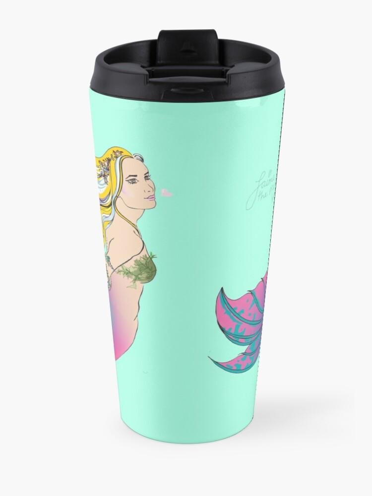 Alternate view of Drink Bottle & Travel Mug: Jaime the Mermaid by Ali Travel Mug