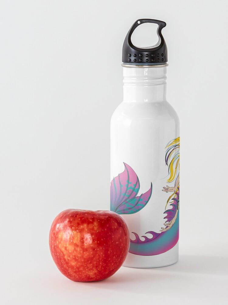 Alternate view of Drink Bottle & Travel Mug: Jaime the Mermaid by Ali Water Bottle