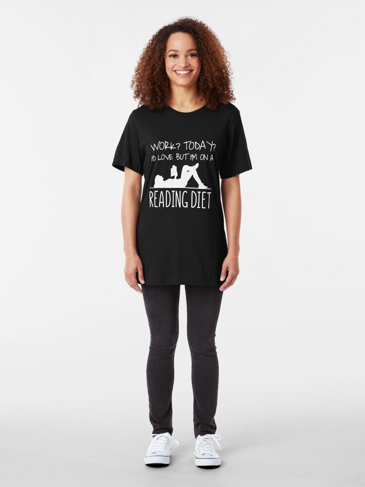 Alternative Ansicht von Work I'd Love But I'm On A Reading Diet - Bookworm Slim Fit T-Shirt