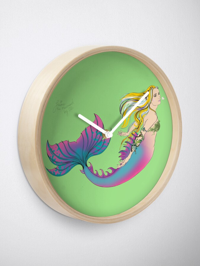 Alternate view of Home Accessories: Jaime the Mermaid by Ali Clock