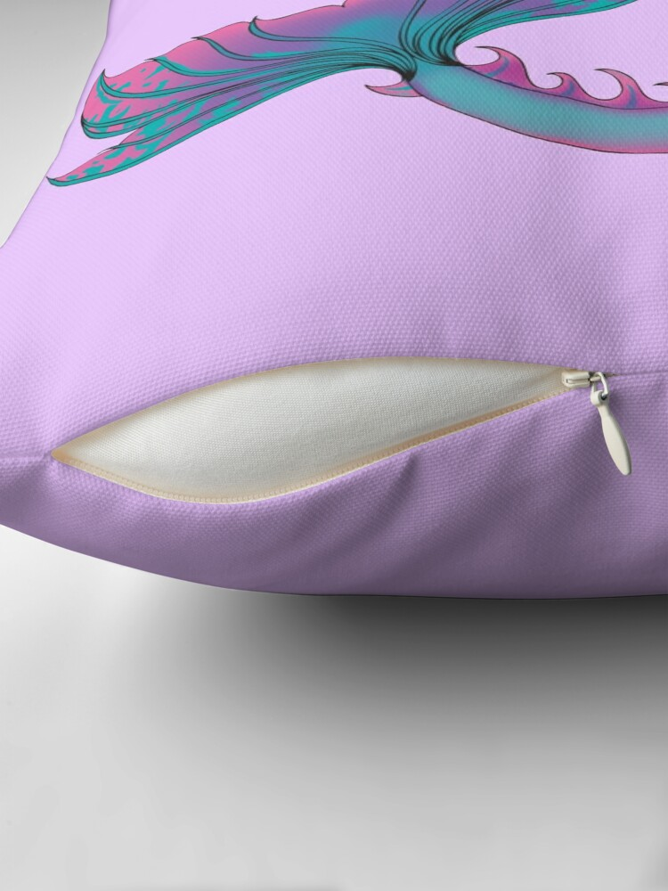 Alternate view of Home Accessories: Jaime the Mermaid by Ali Throw Pillow