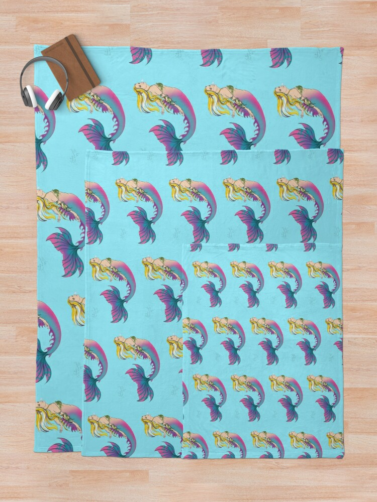 Alternate view of Home Accessories: Jaime the Mermaid by Ali Throw Blanket