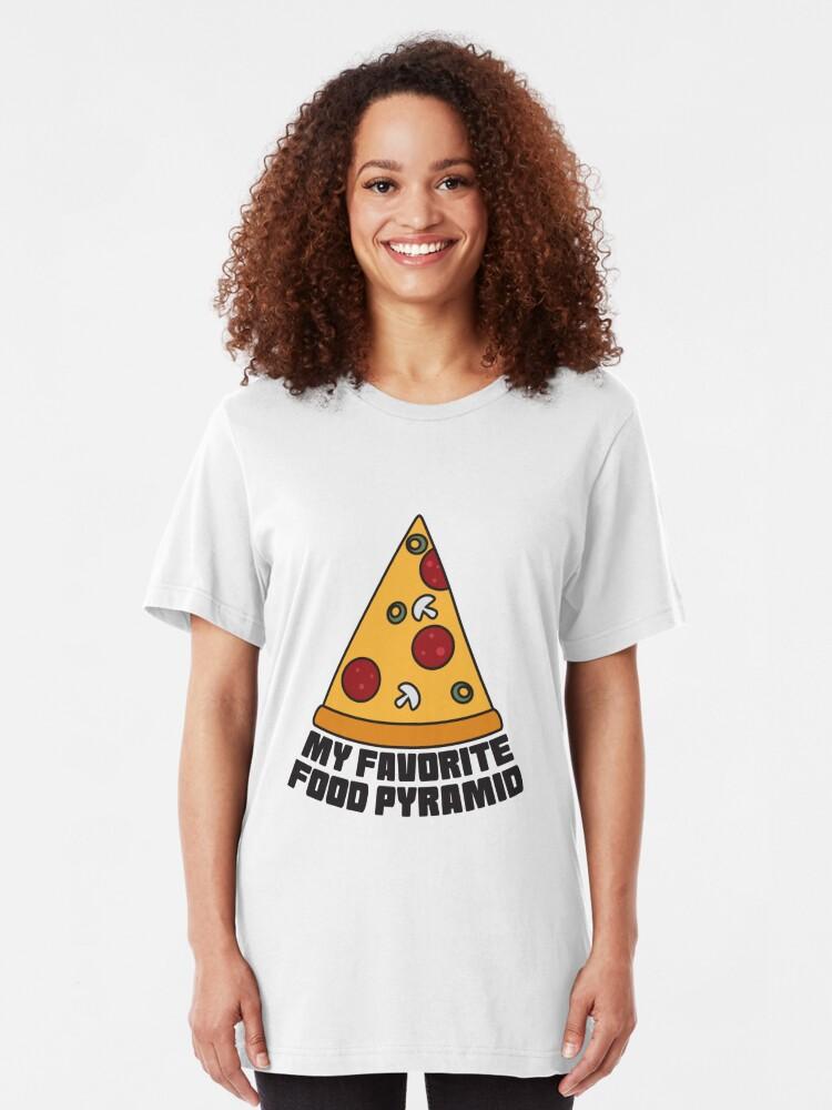 Alternative Ansicht von Pizza Party - My Favorit Food Pyramid Slim Fit T-Shirt