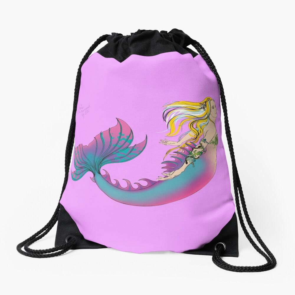 Drawstring & Tote Bags: Jaime the Mermaid by Ali Drawstring Bag