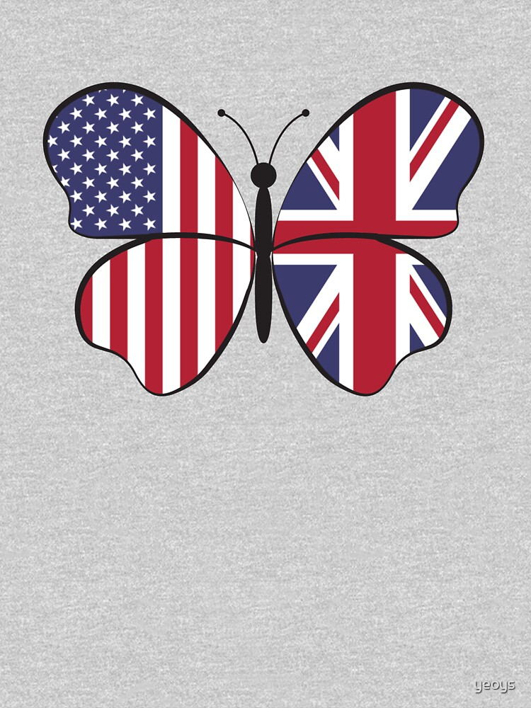 USA United Kingdom Butterfly - Dual Citizenship von yeoys