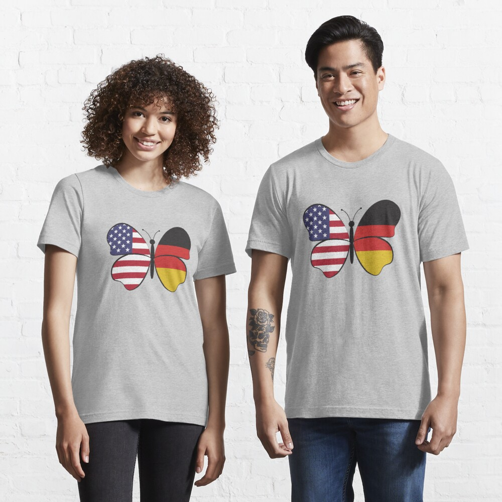 USA Germany Butterfly - Dual Citizenship Essential T-Shirt