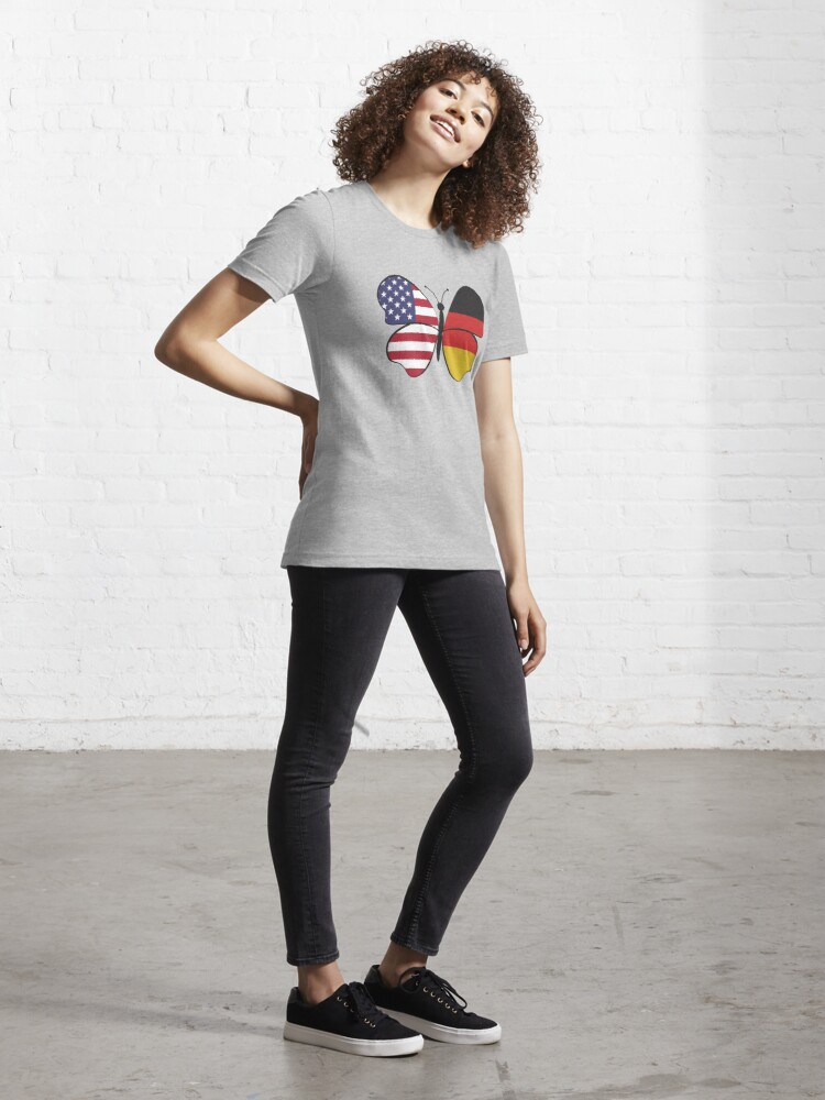 Alternate view of USA Germany Butterfly - Dual Citizenship Essential T-Shirt