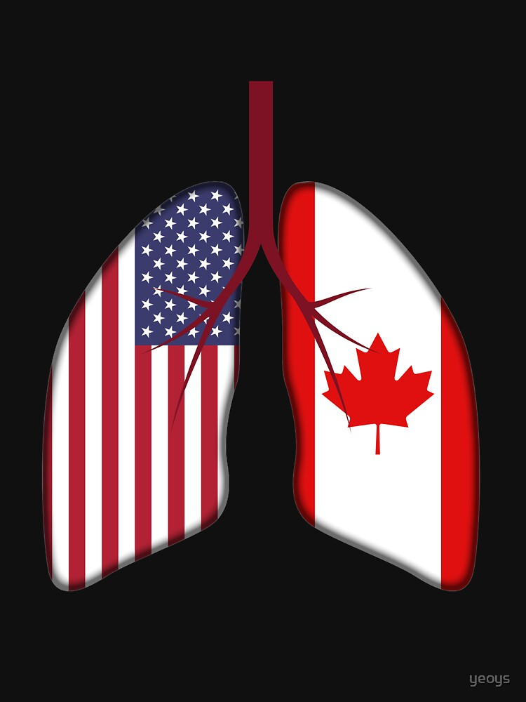 USA Canada Flag Lungs - Dual Citizenship by yeoys
