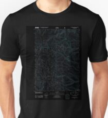 USGS Topo Map Oregon Sugarbowl Creek 20110816 TM Inverted Unisex T-Shirt