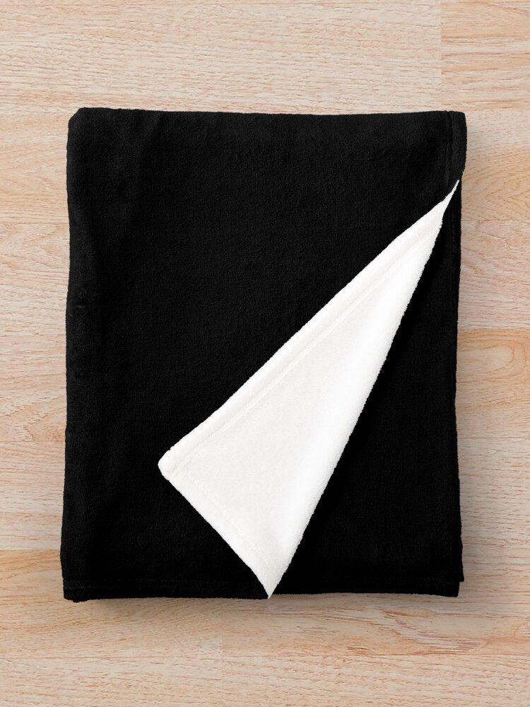 Alternate view of Me, Feeling? What a Concept! (Black) Throw Blanket