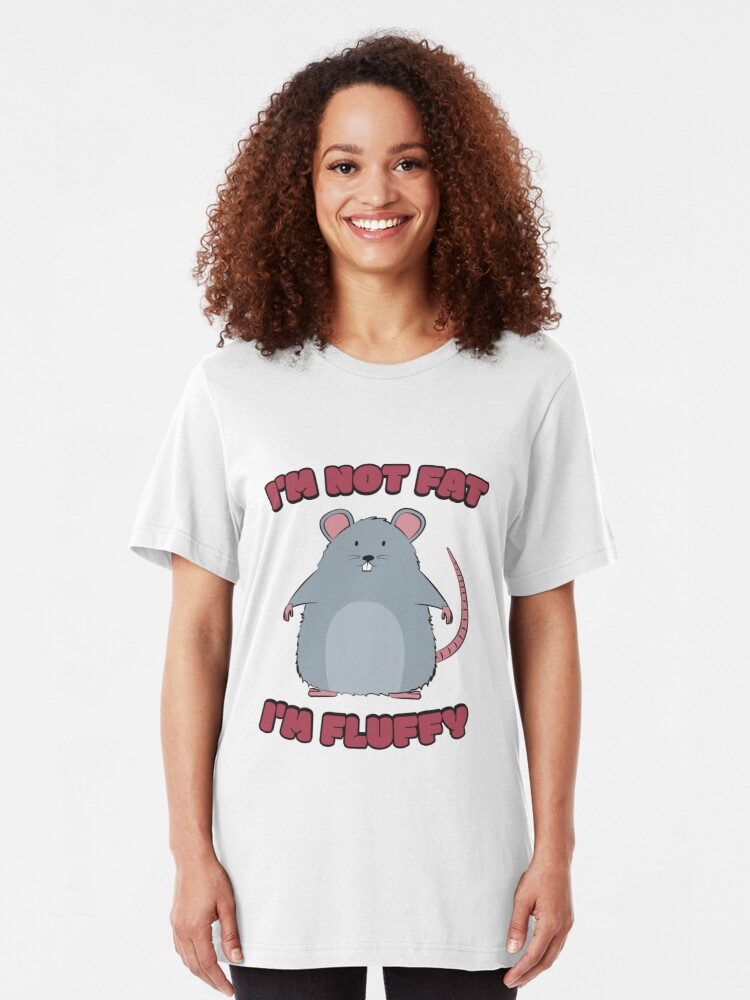 Alternative Ansicht von I'm Not Fat I'm Fluffy - Cute Fat Rat Slim Fit T-Shirt