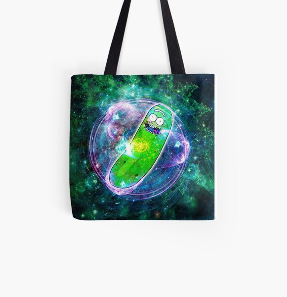 Pickle Rick in Space | Rick and Morty | Flower of Life All Over Print Tote Bag