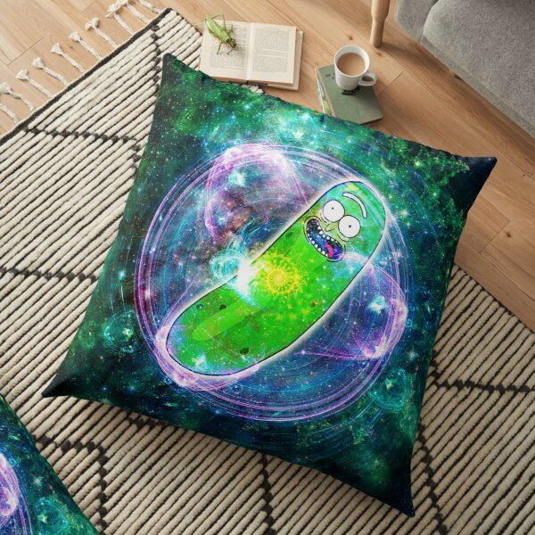 Pickle Rick in Space | Rick and Morty | Flower of Life Floor Pillow
