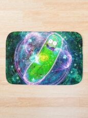 Pickle Rick in Space | Rick and Morty | Flower of Life Bath Mat