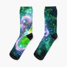 Pickle Rick in Space | Rick and Morty | Flower of Life Socks