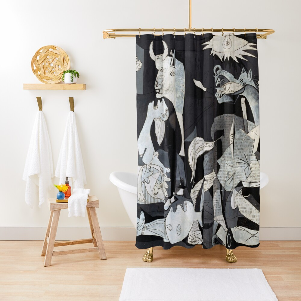Pablo Picasso Guernica 1937 Original Artwork Reproduction Shower Curtain