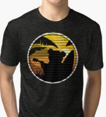 Good vibes music surf bear Tri-blend T-Shirt