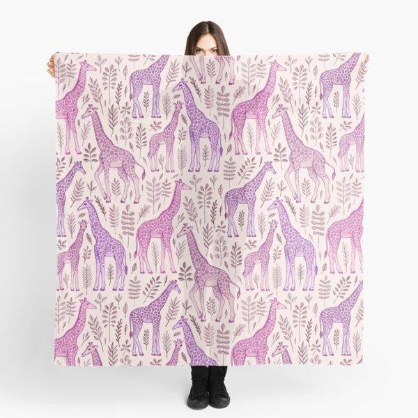 Pink Giraffe Pattern Scarf