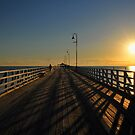 Sunrise at the Shorncliffe Jetty. Brisbane, Queensland, Australia. by Ralph de Zilva