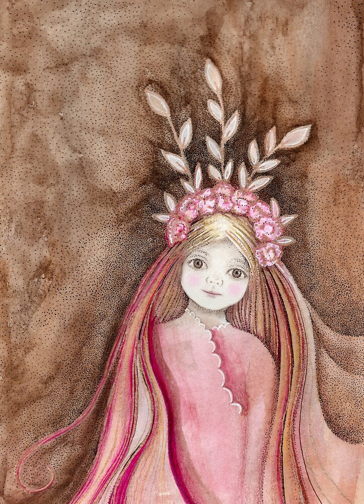 autumn princess with pink roses by trudette
