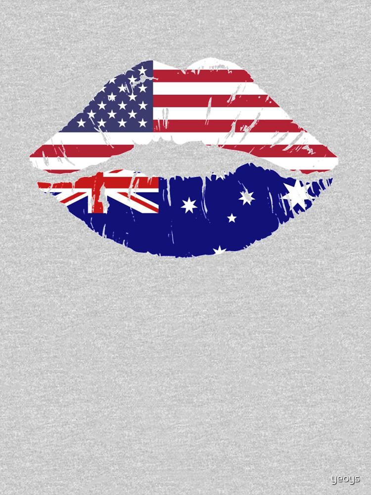 USA Australian Kiss - Dual Citizenship by yeoys