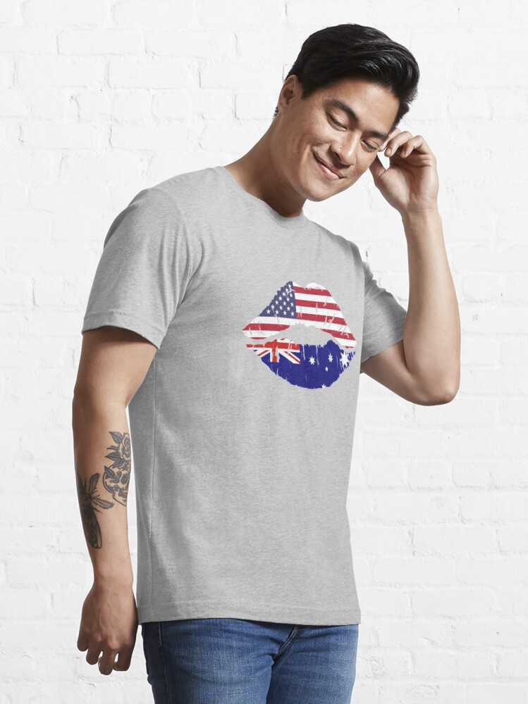 Alternate view of USA Australian Kiss - Dual Citizenship Essential T-Shirt