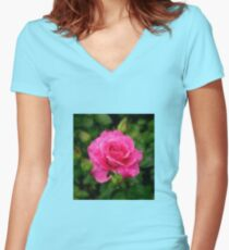 Only a rose Women's Fitted V-Neck T-Shirt