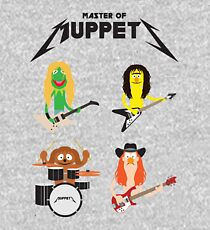 Master of Muppets - Muppets as Metallica Band Kids Pullover Hoodie