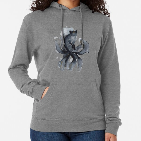 Watercolor Nine Tailed Fox Lightweight Hoodie