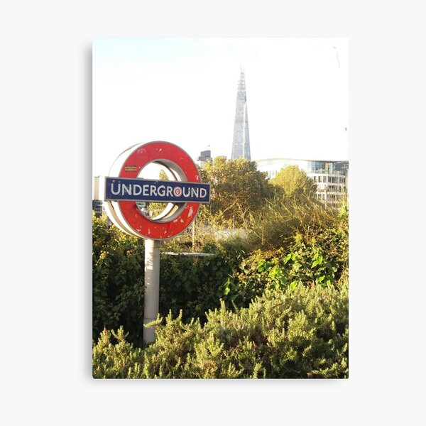 London City Underground Sign Canvas Wall Art Picture Print