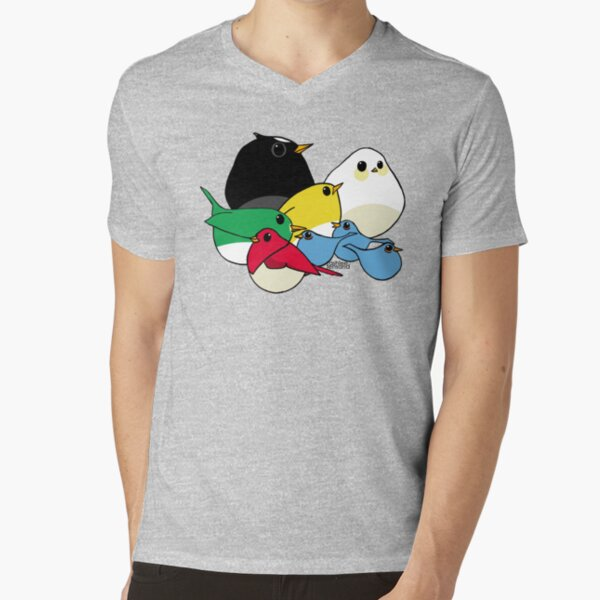 Not-so Angry Birds V-Neck T-Shirt