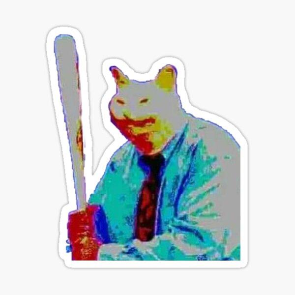 cursed vibe check cat Sticker