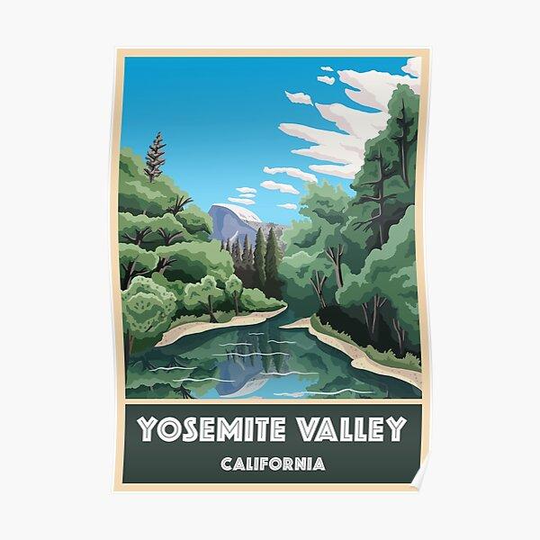 Yosemite Retro Poster Poster