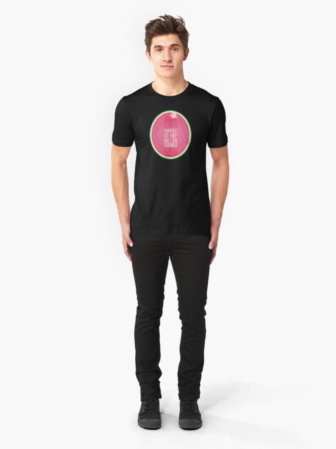 Alternate view of Die Hard Melon Farmers Slim Fit T-Shirt