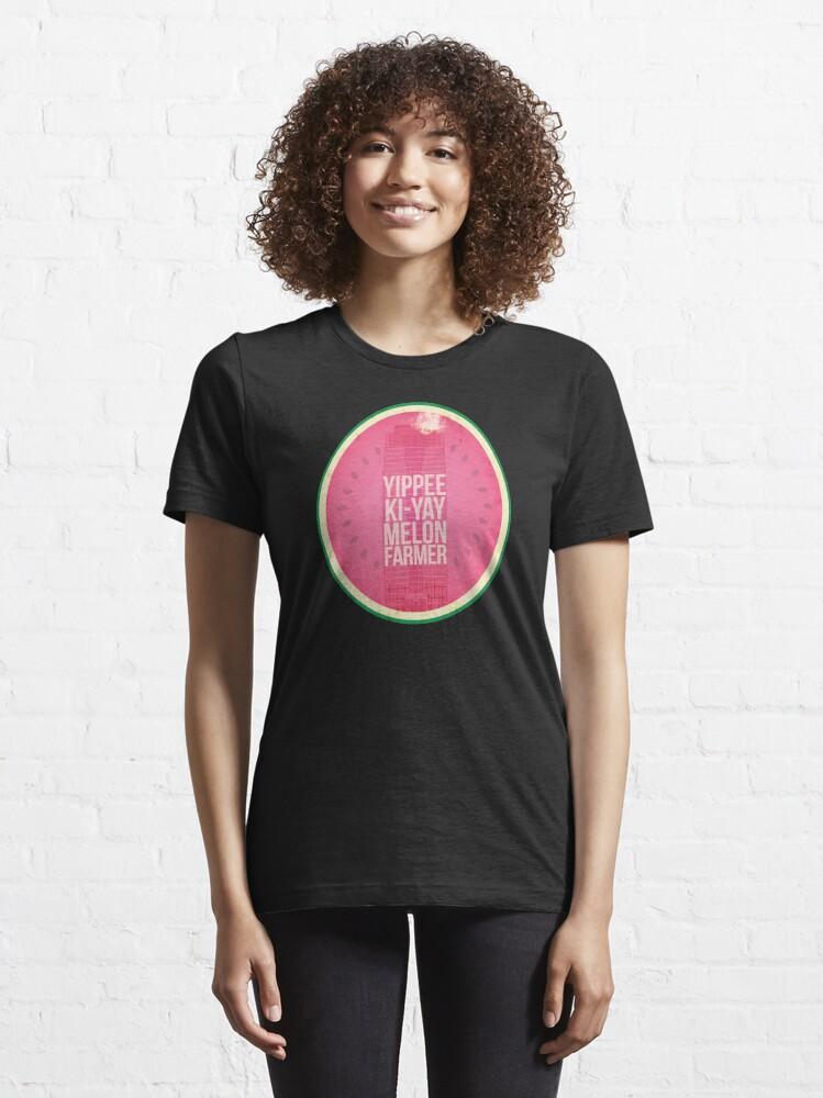 Alternate view of Die Hard Melon Farmers Essential T-Shirt