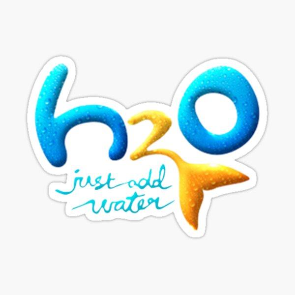 H2O nur Wasser Logo hinzufügen Sticker