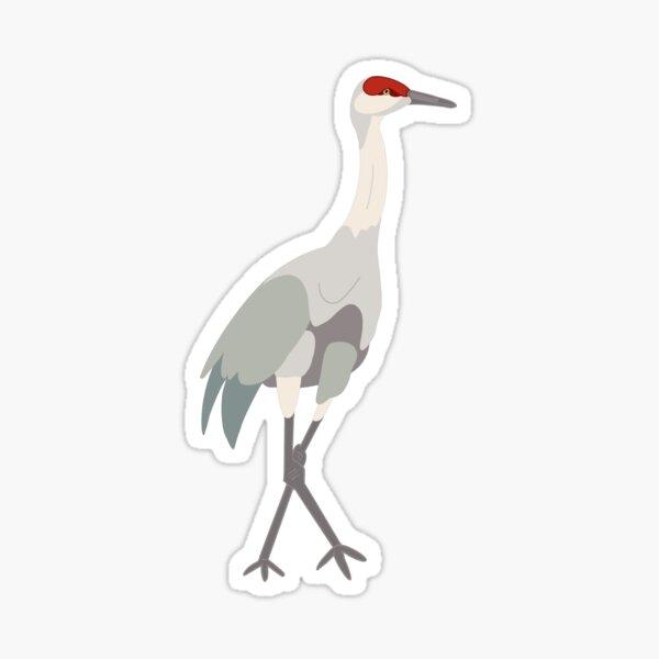 Sandhill Crane - Drawing Sticker