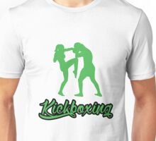 Kickboxing Female Knee Green  Unisex T-Shirt