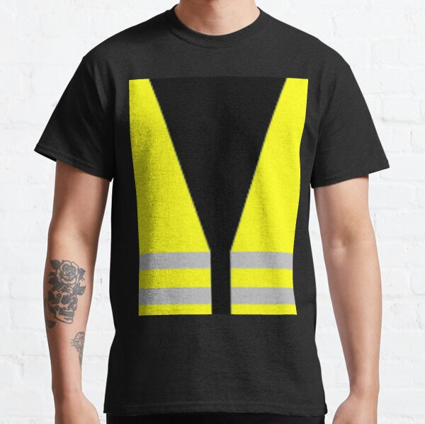 #Yellow, #high-#visibility #clothing, patriotism, symbol, design, illustration, rows, striped Classic T-Shirt