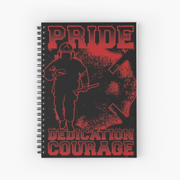 Firefighter Pride in Red Spiral Notebook